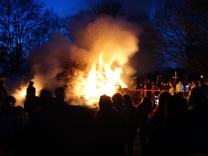 03/2016: Osterfeuer beim BSC