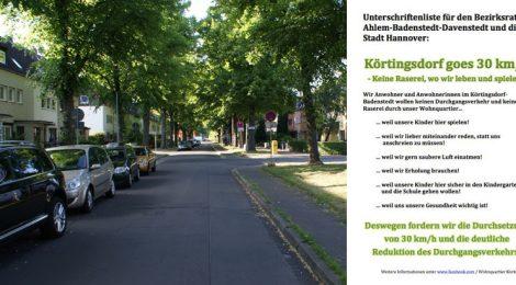 Unterschriftensammlung Körtingsdorf