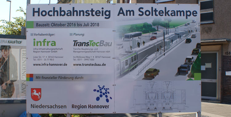 Stadtbahnausbau in Badenstedt